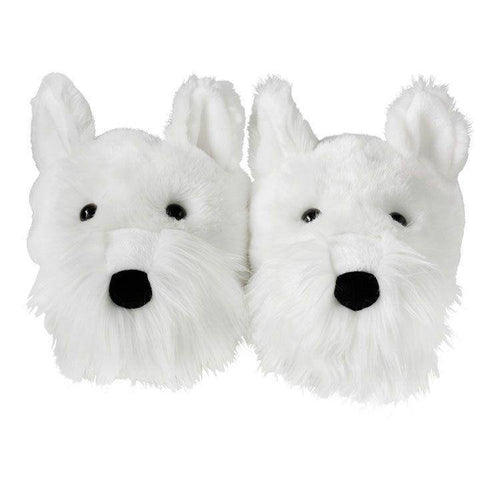 Image of White Westie Slippers - West Highland Terrier Slippers Slippers Westies Shop