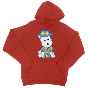Summer Holiday Westie College Hoodie Apparel kite.ly S Fire Red