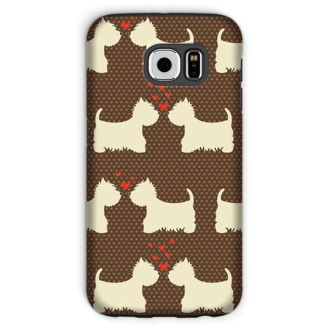 Image of Westies in Love Brown Phone Case Phone & Tablet Cases kite.ly Galaxy S6 Tough Gloss