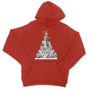 Westie Christmas Tree College Hoodie Apparel kite.ly S Fire Red