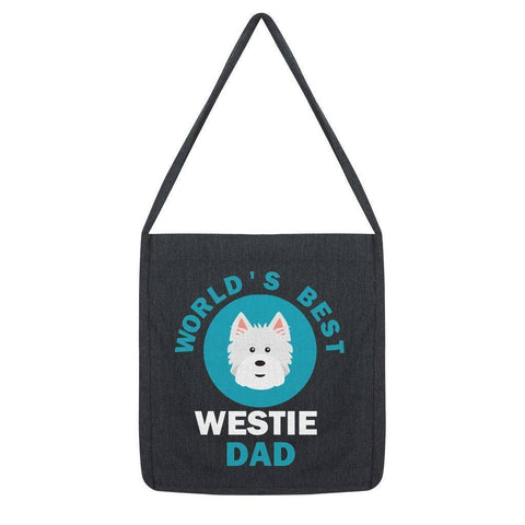 World's Best Westie Dad Tote Bag Accessories kite.ly Melange Black
