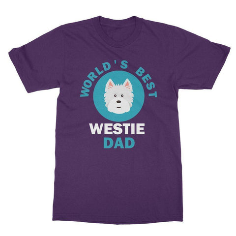 Image of World's Best Westie Dad Tee Apparel kite.ly S Purple