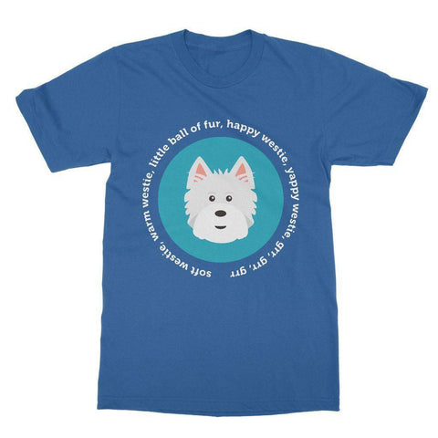 Image of Happy Westie - Big Bang Theory Softstyle T-shirt Apparel kite.ly S Royal Blue