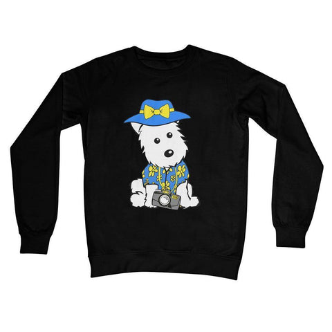 Image of Summer Holiday Westie Crew Neck Sweatshirt Apparel kite.ly S Jet Black