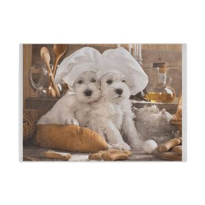 Westie Bakers - Westies Glass Chopping Board Cutting Boards teelaunch UK Supplier