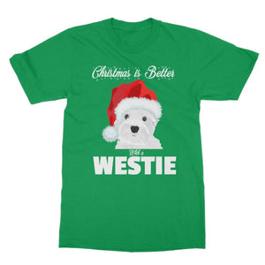 Christmas is better with a Westie Softstyle T-shirt Apparel kite.ly S Irish Green
