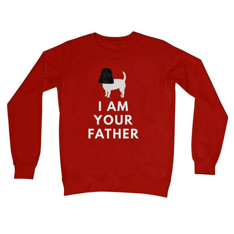 Image of Darth Westie Father Crew Neck Sweatshirt Apparel kite.ly S Fire Red