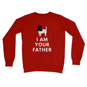 Darth Westie Father Crew Neck Sweatshirt Apparel kite.ly S Fire Red
