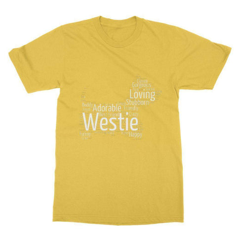 Westie Word Cloud Softstyle T-shirt Apparel kite.ly S Daisy