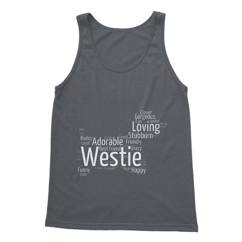 Image of Westie Word Cloud Softstyle Tank Top