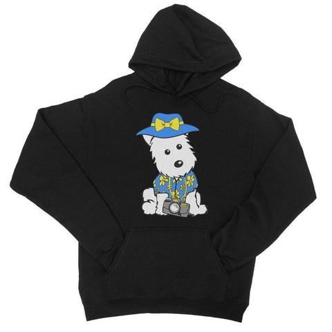 Image of Summer Holiday Westie College Hoodie Apparel kite.ly S Jet Black