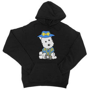 Summer Holiday Westie College Hoodie Apparel kite.ly S Jet Black