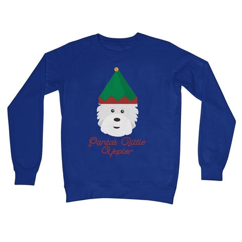 Santas Little Yelper Crew Neck Sweatshirt Apparel kite.ly S Royal Blue