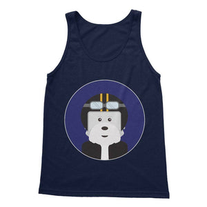 Westie Biker Softstyle Tank Top Apparel kite.ly S Navy