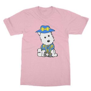Summer Holiday Westie Softstyle T-shirt Apparel kite.ly S Light Pink