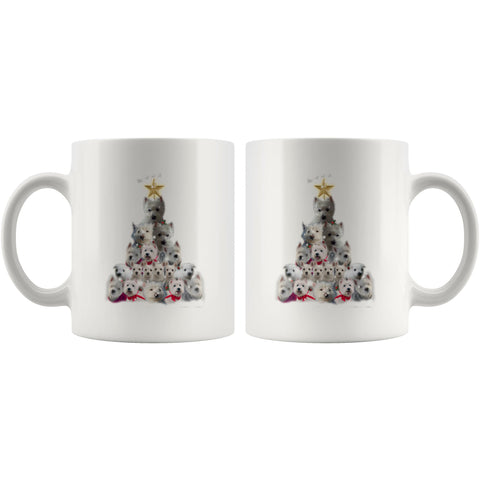 Image of Christmas Tree Of Westies Mug - Xmas West Highland Terrier Coffee Drinkware teelaunch