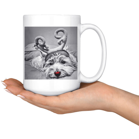 Rudolph the red nosed Westie Photo Mug Drinkware teelaunch