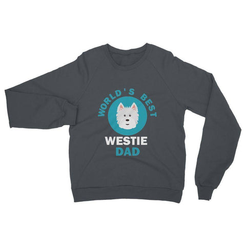 Image of World's Best Westie Dad Heavy Blend Crew Neck Sweatshirt Apparel kite.ly S Charcoal