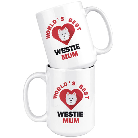 Image of World's Best Westie Mum Mug Drinkware teelaunch