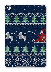 Blue Santa and Westies Christmas Tablet Cases Phone & Tablet Cases kite.ly iPad Mini 4 Gloss