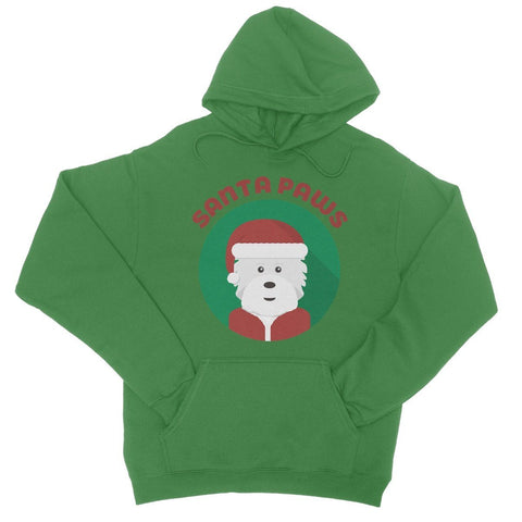 Image of Santa Paws College Hoodie Apparel kite.ly S Kelly Green