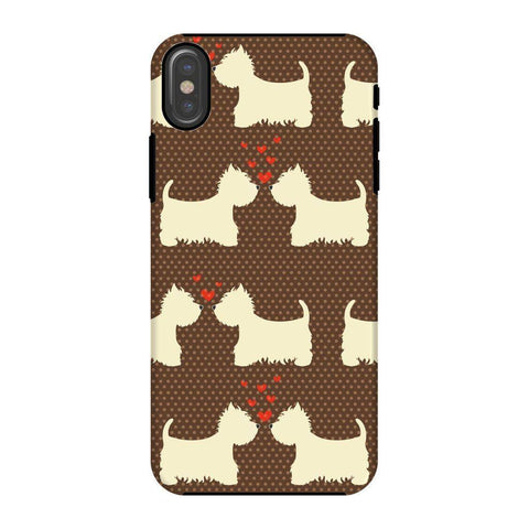 Image of Westies in Love Brown Phone Case Phone & Tablet Cases kite.ly iPhone X Tough Gloss