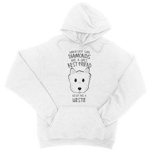 Whoever Said Diamonds College Hoodie Apparel kite.ly S Arctic White