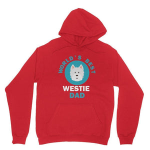 World's Best Westie Dad Hoodie Apparel kite.ly XS Red