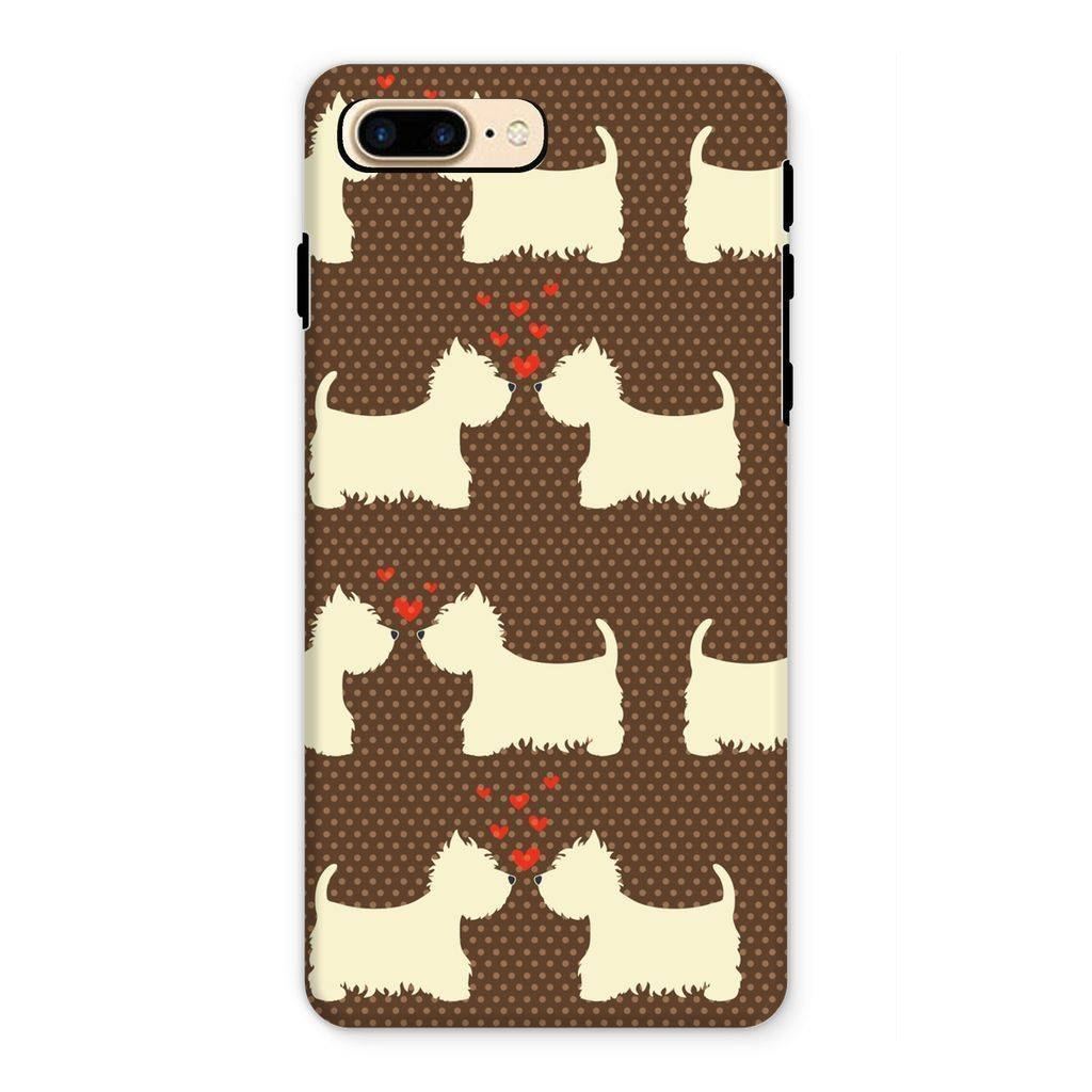 Westies in Love Brown Phone Case Phone & Tablet Cases kite.ly iPhone 7 Plus Tough Gloss
