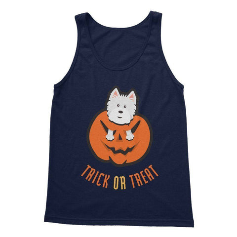 Trick or Treat Westie Softstyle Tank Top