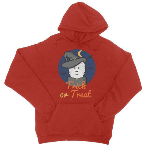 Image of Trick or Treat Westie Witch College Hoodie
