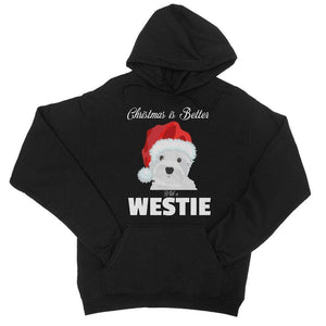Christmas is better with a Westie College Hoodie Apparel kite.ly S Jet Black