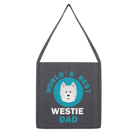 World's Best Westie Dad Tote Bag Accessories kite.ly Melange Dark Heather