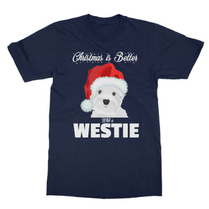 Christmas is better with a Westie Softstyle T-shirt Apparel kite.ly S Navy