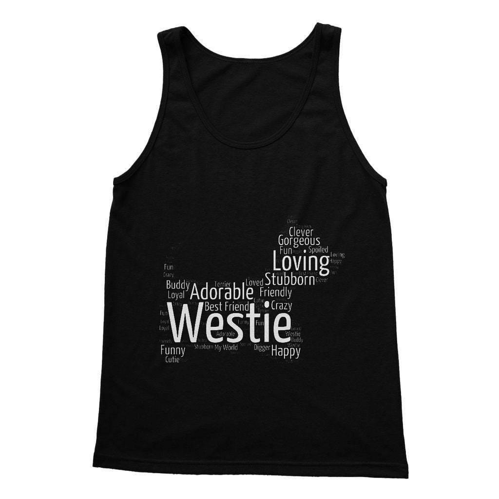 Westie Word Cloud Softstyle Tank Top