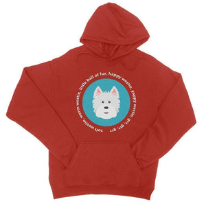Happy Westie - Big Bang Theory College Hoodie Apparel kite.ly S Fire Red
