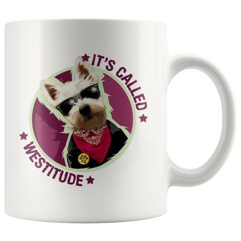 Image of It's Called Westitude Westie Mug Drinkware teelaunch 11oz Mug