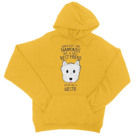 Image of Whoever Said Diamonds College Hoodie Apparel kite.ly S Gold