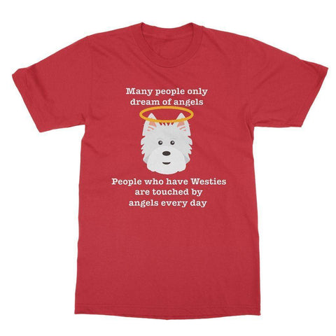 Westie Angel Softstyle T-shirt Apparel kite.ly S Red
