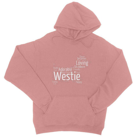 Image of Westie Word Cloud College Hoodie Apparel kite.ly S Dusty Pink
