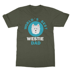 World's Best Westie Dad Tee Apparel kite.ly S Military Green