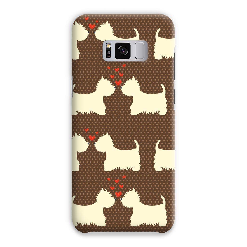 Westies in Love Brown Phone Case Phone & Tablet Cases kite.ly Samsung S8 Plus Snap Gloss