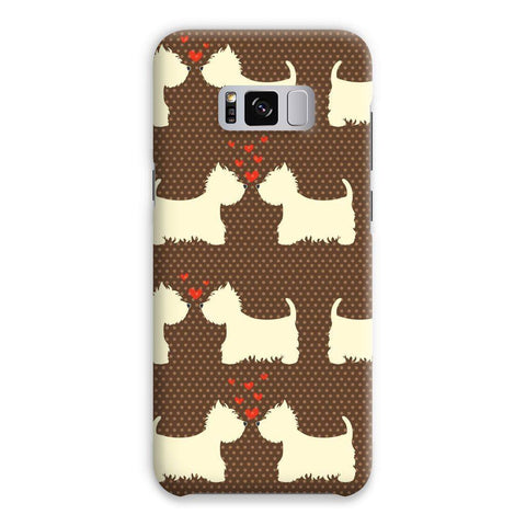 Image of Westies in Love Brown Phone Case Phone & Tablet Cases kite.ly Samsung S8 Plus Snap Gloss