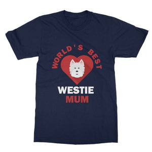 World's Best Westie Mum Softstyle T-shirt Apparel kite.ly S Navy