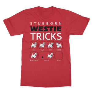 Stubborn Westie Tricks Softstyle T-shirt Apparel kite.ly S Red