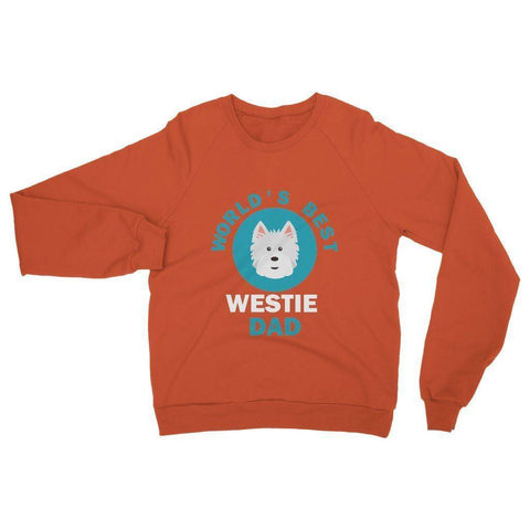 Image of World's Best Westie Dad Heavy Blend Crew Neck Sweatshirt Apparel kite.ly S Orange