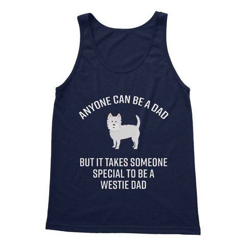 Special Westie Dad Softstyle Tank Top Apparel kite.ly S Navy
