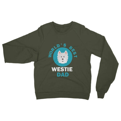 Image of World's Best Westie Dad Heavy Blend Crew Neck Sweatshirt Apparel kite.ly S Military Green