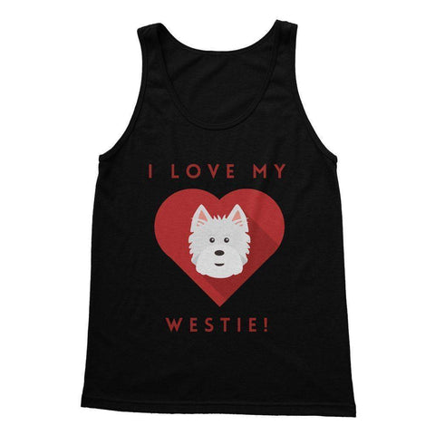 I Love My Westie Heart Softstyle Tank Top Apparel kite.ly S Black