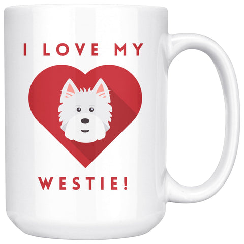 Image of I Love My Westie Mug Drinkware teelaunch 15oz Mug